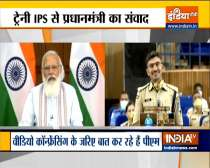 Prime Minister Narendra Modi interacts with IPS probationers