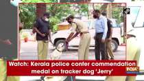 Watch: Kerala police confer commendation medal on tracker dog