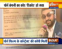Raj Kundra case: Mumbai Police recovers copy of porn film contract and scripts