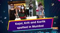 Kajol, Kriti and Kartik spotted in Mumbai