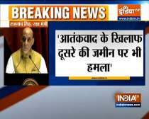 Defence Minister Rajnath Singh gives stiff message to Pakistan today