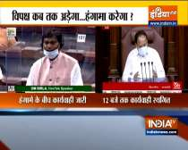 Rajya Sabha adjourned till 12 pm over uproar by Opposition MPs over various issues
