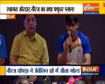 Athletics Federation of India felicitates gold medalist Neeraj Chopra