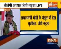 BJP chief JP Nadda addresses