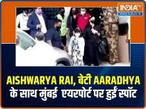 Aishwarya Rai and Aaradhya snapped at Mumbai airport as they return after Ponniyin Selvan shoot