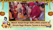 Watch: Navjot Singh Sidhu offers prayers at Shivala Bagh Bhayian Temple in Amritsar