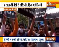 People protest over rape, murder of 9-year-old girl in Delhi