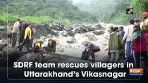 SDRF team rescues villagers in Uttarakhand