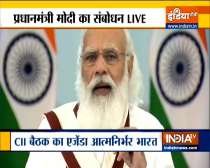 Prime Minister Narendra Modi addresses the CII Annual Session 2021