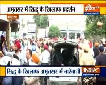 Slogans raised against Navjot Singh Sidhu in Amritsar