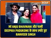 Ranveer Singh steps out with mother Anju & wife Deepika