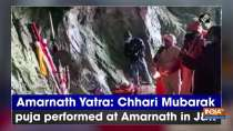 Amarnath Yatra: Chhari Mubarak puja performed at Amarnath in JandK