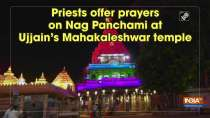 Priests offer prayers on Nag Panchami at Ujjain