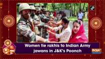 Women tie rakhis to Indian Army jawans in JandK