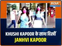 Janhvi Kapoor was caught on camera with sister Khushi Kapoor, watch video