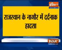 11 killed 7 others injured as cruiser collides with truck in Nagaur