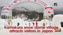 Kamakura snow dome village attracts visitors in Japan