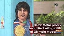 Delhi: Metro pillars beautified with graffiti of Olympic medalists