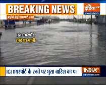 Waterlogging at Indira Gandhi International Airport after Delhi received heavy rain
