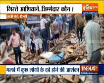 Delhi: Several feared trapped under the collapsed building in Sabzi Mandi area