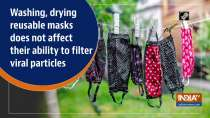Washing, drying reusable masks does not affect their ability to filter viral particles
