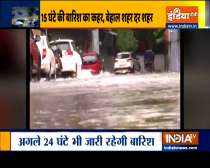 Heavy rains wreak havoc across many cities of UP, schools and colleges to remain closed for 48 hours