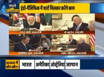 India, Australia, Japan and the US talk about a peaceful Indo-Pacific in the Quad meeting