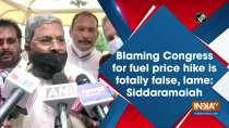 Blaming Congress for fuel price hike is totally false, lame: Siddaramaiah