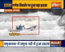 2 people missing following a boat accident in Yamuna river during Ganpati Visarjan