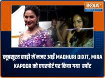 Spotted! Madhuri Dixit outside the Filmistan studio, Mira Rajput at airport