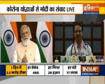 PM Modi interacts with healthcare workers of Goa after the state completes 100% vaccination