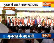 Watch: New Gujarat ministers take oath for the new cabinet under CM Bhupendra Patel