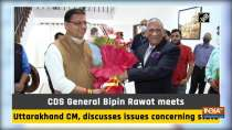 CDS General Bipin Rawat meets Uttarakhand CM, discusses issues concerning state