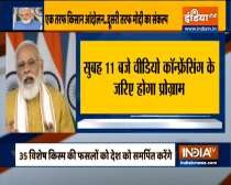 PM Modi to interact with farmers today