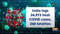 India logs 34,973 fresh COVID cases, 260 fatalities
