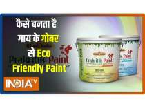 Here is an anti bacterial,  eco friendly Paint made from Cowdung under made in India scheme