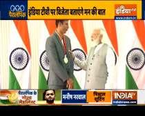 PM Modi hosts Indian Paralympics stars