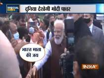 Special News   Amid rains, Indians give PM Modi warm welcome in USA