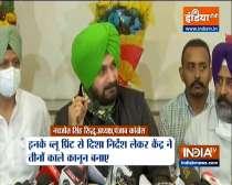 Navjot Singh Sidhu slams Badal family, says had given blueprint of three farm laws