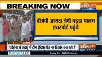 Watch: Celebrations begin at Palam Airport ahead of PM Modi