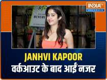 Janhvi Kapoor snapped post workout, Karan Johar poses for paparazzi as he visits Kareena Kapoor Khan