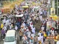 Farmers begin protest march towards mini-secretariat amid heavy security presence