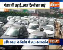 Protest by Akali Dal causes heavy traffic jam in many areas of Delhi