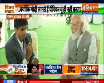 Tokyo Paralympics Silver medalist and Noida DM LY Suhas with PM Modi