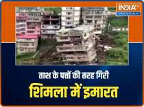 Watch: Multi-storey building collapses in Shimla