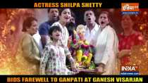 Ganpati Visarjan: Shilpa Shetty and her family bid goodbye to Lord Ganesha