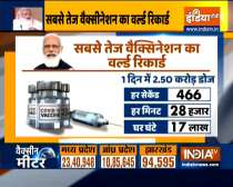 India sets a new record of vaccination on PM Modi