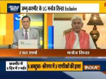Exclusive: J&K L-G Manoj Sinha talks about civilian killings in the Valley