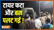 1 dead, 3 injured after bus falls from flyover in UP