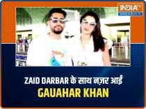 Celeb Spotting: Gauahar Khan, husband Zaid Darbar snapped at airport, Karisma Kapoor visits Kareena at her residence